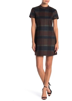Sanctuary Mock Neck Checkered Ponte Dress (Petite)
