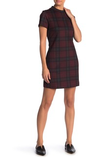 Sanctuary Mock Neck Plaid Shift Dress (Regular & Petite)