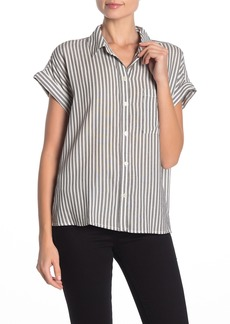 Sanctuary Mod Short Sleeve boyfriend Button Down Shirt
