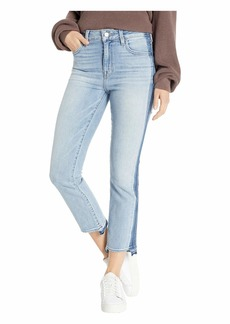 Sanctuary Modern High-Rise Crop Jeans with Indigo Shadow in Split Personality