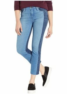Sanctuary Modern Standard Straight Crop Jeans in Noho Arts Blue