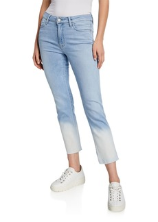Sanctuary Modern Straight Cropped Dip-Dye Jeans