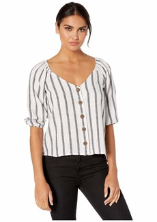 Sanctuary Modern Summer Button Front Top