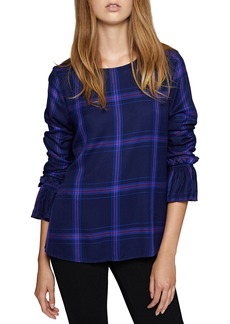 Sanctuary Night Crawler Plaid Blouse