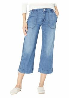 Sanctuary Non Conformist Wide Leg Painter Crop Jeans in Blue Lagoon