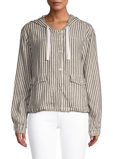 Sanctuary Nova Striped Hooded Linen Jacket