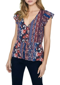 Sanctuary Over the Moon Peplum Flutter Sleeve Blouse (Regular & Petite)