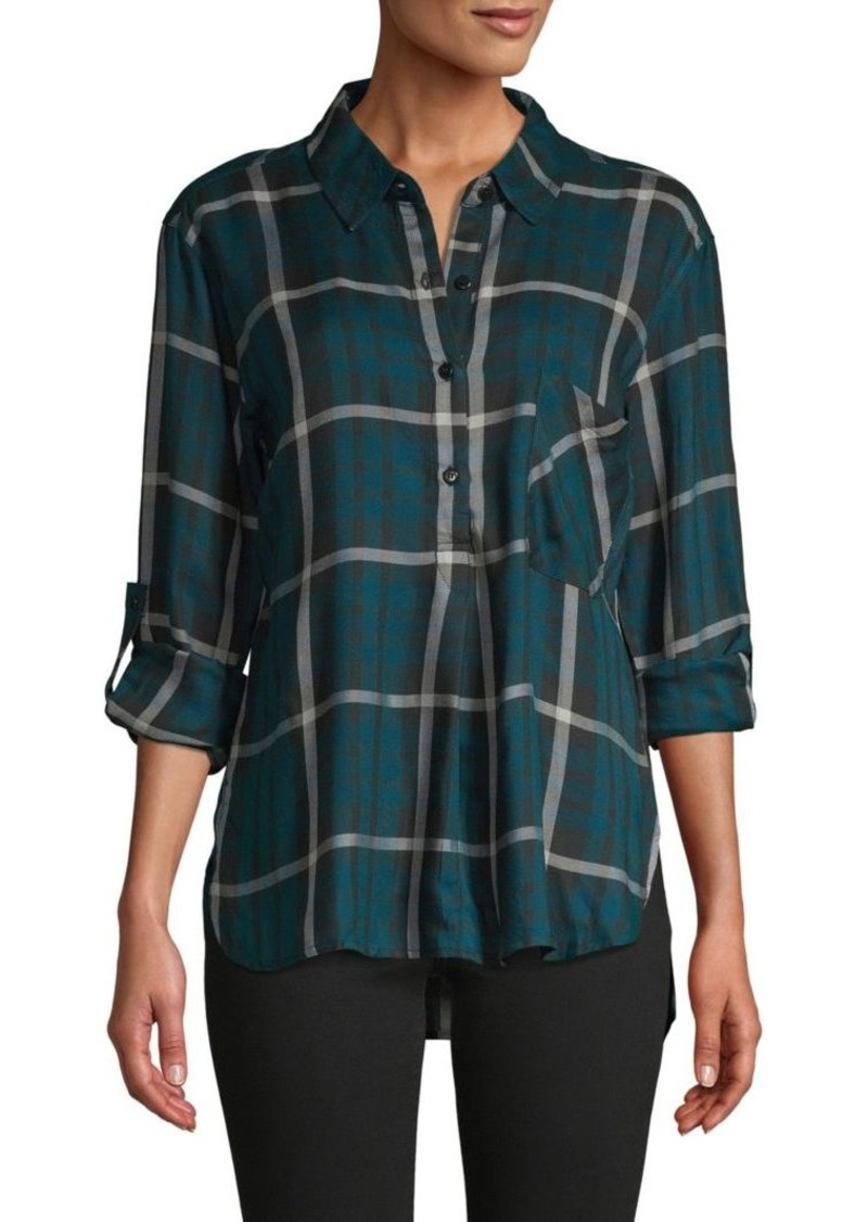 Sanctuary Plaid High-Low Shirt