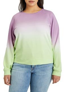 Plus Size Women's Sanctuary Ombre Raglan Sweatshirt