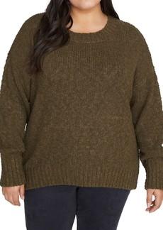 Sanctuary Popcorn Crew Neck Sweater (Plus Size)