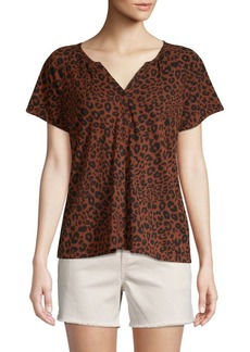 Sanctuary Printed Cotton Blend Henley