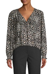 Sanctuary Printed Faux Wrap Blouse