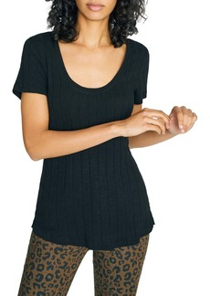Sanctuary Ruby Scoop Cotton Blend Tee (Regular & Petite)