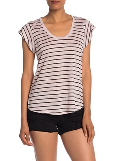 Sanctuary Ruby Scoop Neck Linen T-Shirt (Regular & Petite)