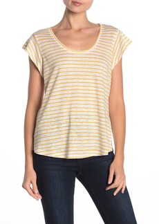 Sanctuary Ruby Scoop Neck Linen T-Shirt