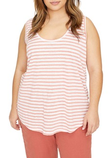 Sanctuary Ruby Stripe Linen Tank (Plus Size)