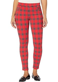 Sanctuary Runway Ponte Leggings with Functional Pockets in Cambridge Plaid