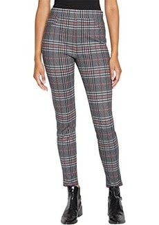 Sanctuary Runway Ponte Leggings with Functional Pockets in St. Moritz Plaid