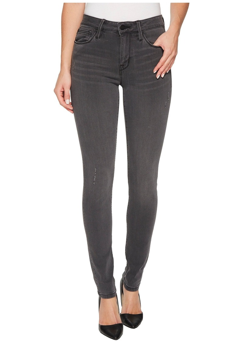 Sanctuary Saige Curvy Skinny Pants w/ Black Rose Embroidery