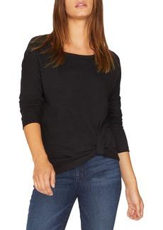 Sanctuary Adrienne Side Twist Cotton Blend Top (Regular & Petite)