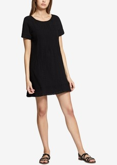 Sanctuary After Glow Pleated Lace-Trim Dress
