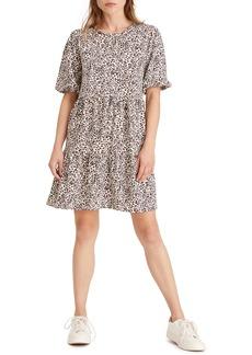 Sanctuary All Day Leopard Print Cotton Blend Dress