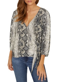 Sanctuary All Wrapped Up Snakeskin Top