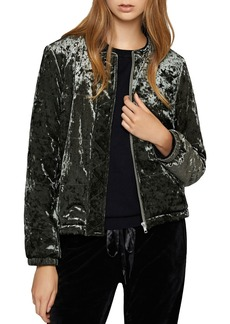 Sanctuary All You Need Is Me Crushed Velvet Jacket