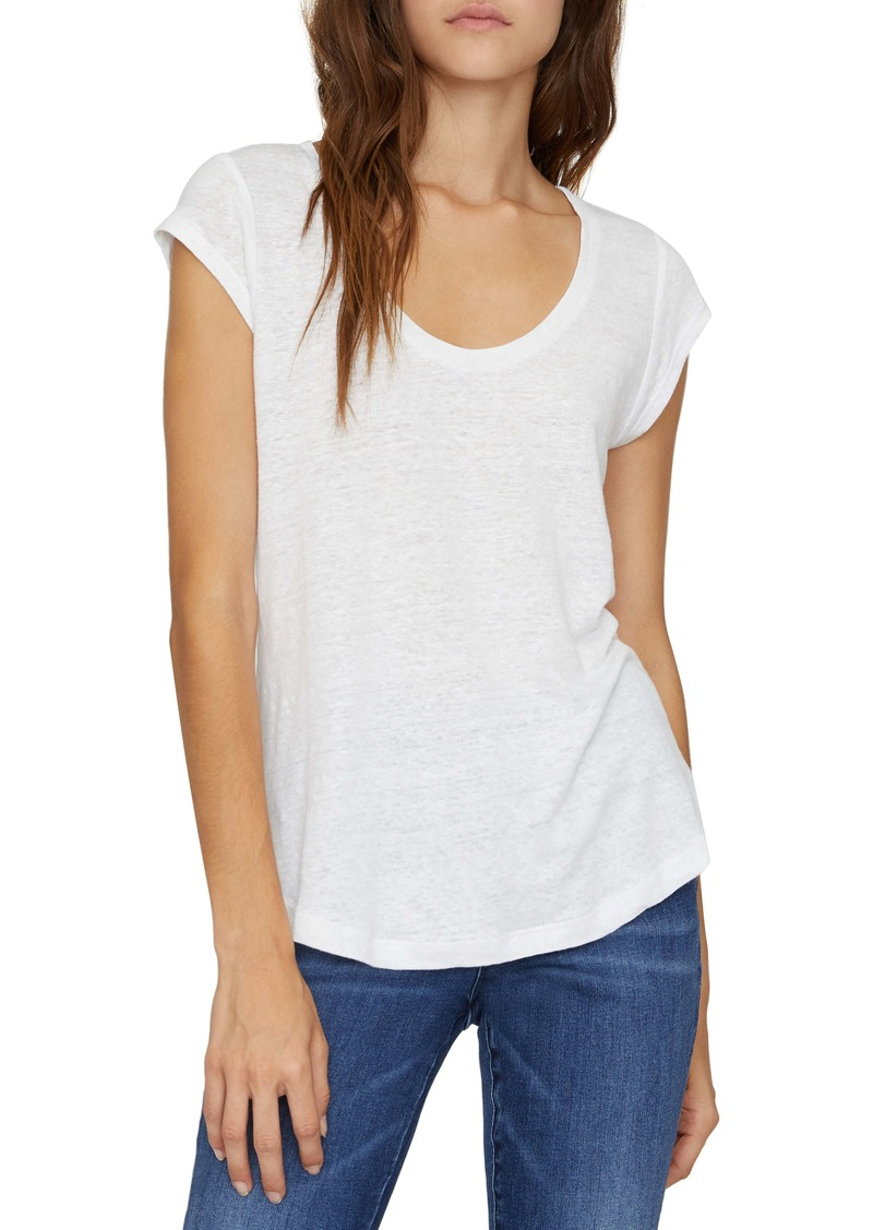 Sanctuary Alma Scoop Neck Slub Linen T-Shirt (Regular & Petite)