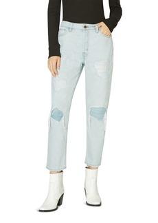Sanctuary Alt Distressed Straight Crop Jeans in Blue