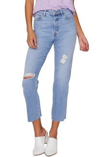 Sanctuary Alt Ripped Raw Hem Tapered Jeans (Zuma Beach)