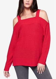Sanctuary Amelie High-Low Cold-Shoulder Sweater