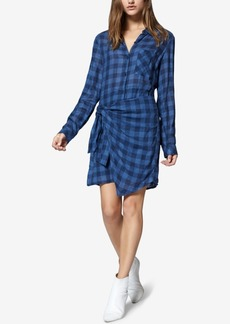 Sanctuary Ani Checkered Side-Tied Dress