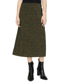 Sanctuary Animal-Print Midi Slip Skirt