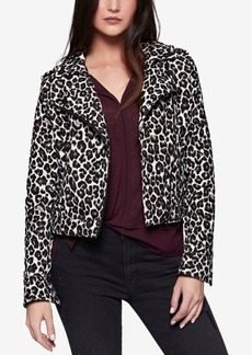 Sanctuary Animal-Print Moto Jacket