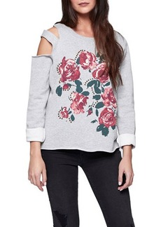 Sanctuary Asymmetric Double Cold-Shoulder Sweatshirt