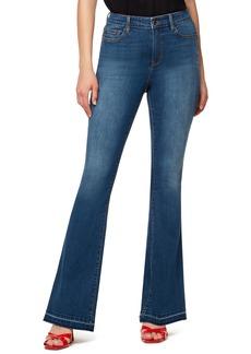 Sanctuary Attract High Waist Release Hem Flare Leg Jeans (Coastal Drive)