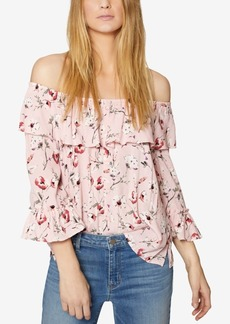 Sanctuary Avery Cotton Ruffled Off-The-Shoulder Top