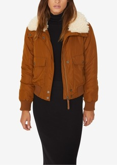 Sanctuary Aviator Flight Faux-Fur-Trim Jacket