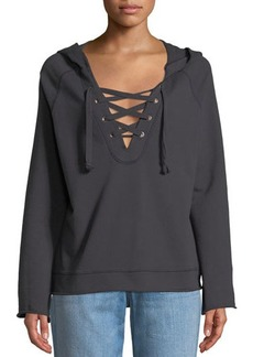 Sanctuary Bailey Lace-Up Hoodie