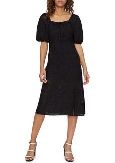 Sanctuary Beatrix Cotton Eyelet Midi Dress