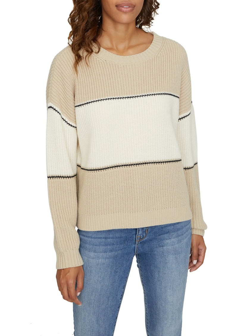 Sanctuary Billie Colorblock Shaker Stitch Sweater (Regular & Petite)