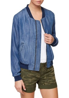 Sanctuary Blue Chambray Bomber Jacket