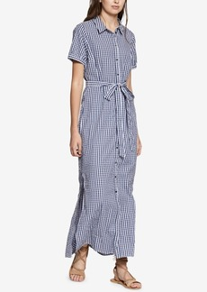 Sanctuary Blue Dawn Cotton Gingham Shirtdress