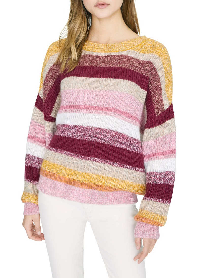 Sanctuary Blur the Lines Stripe Crewneck Sweater (Regular & Petite)