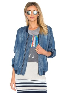 Sanctuary Bomber Jacket in Blue. - size L (also in M,S,XS)