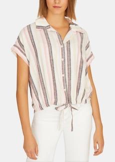 Sanctuary Borrego Striped Tie-Front Shirt