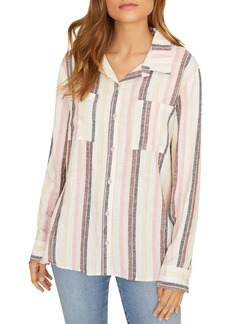Sanctuary Boyfriend For Life Striped Shirt