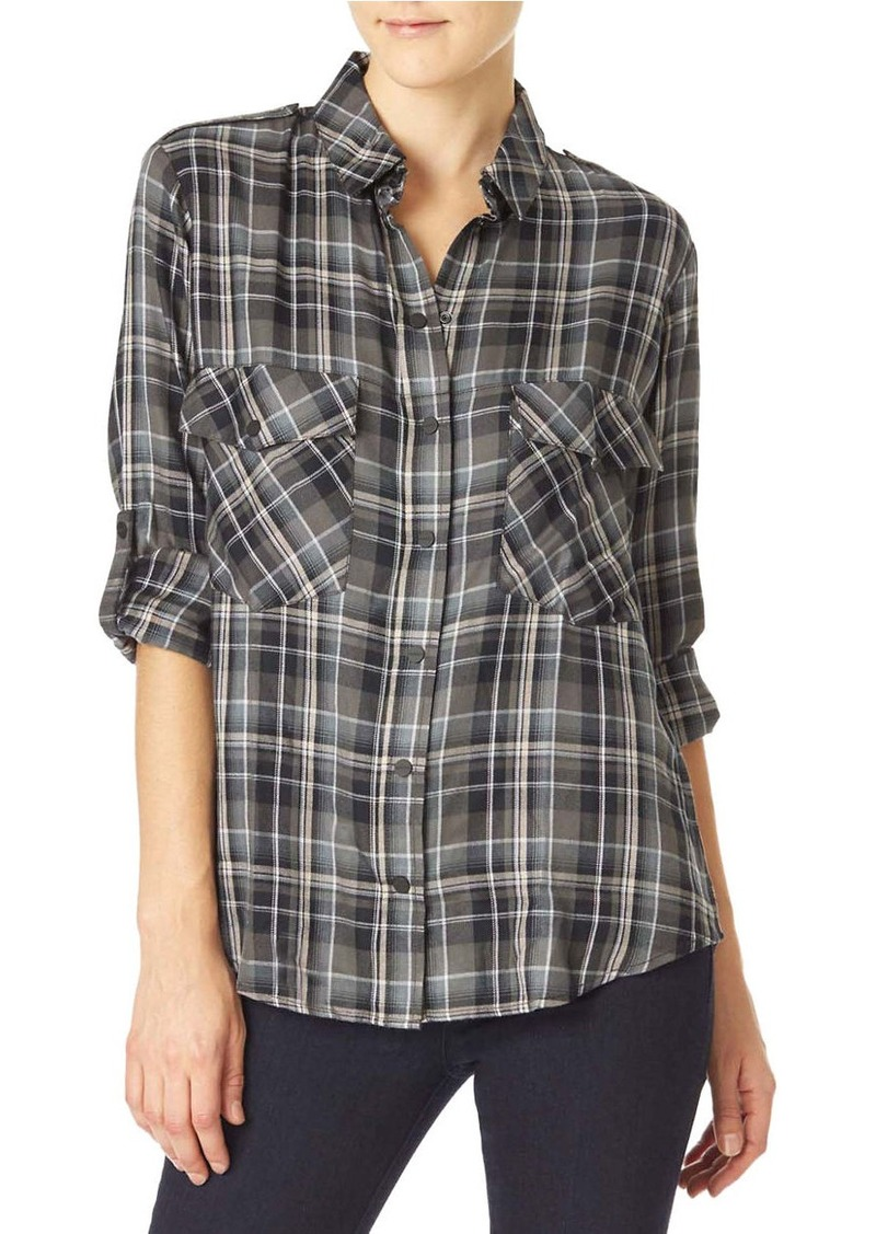 SANCTUARY Boyfriend Rayon Shirt