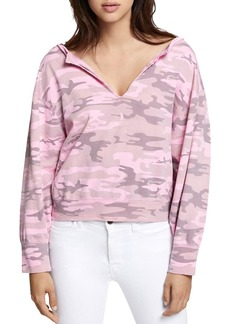 Sanctuary Breslin Split-Neck Camouflage Sweatshirt